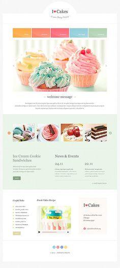Ice Cream Parlor Website Template | Wix Website Templates ...