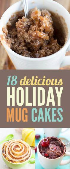 18 Holiday Mug Cakes Worth Feasting On Make these keto Mug Recipes, Cake Recipes, Dessert Recipes, Cooking Recipes, Recipe For Mug Cakes, Recipies, Steak Recipes, Mug Cake Microwave, Microwave Recipes