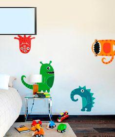 Monstruos - Vinilo Adhesivo, decoración de paredes, niños. $69.900 COP. Encuentra más vinilos adhesivos en www.giferent.com/vinilos-decorativos-adhesivos