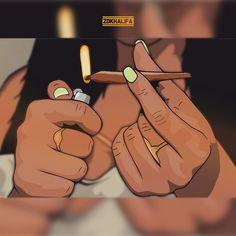 Dope Drawings Of Girls Esinoztas ☪ Black Love Art, Black Girl Art, Art Girl, Dope Cartoons, Dope Cartoon Art, Cartoon Smoke, Arte Dope, Dope Art, Image Swag