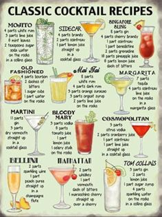 Classic Cocktail Recipes. X