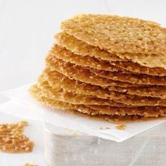 Sesame Seed Cookies Recipe -These are very special cookies served often in the South. They're perfect with tea or coffee. My whole family loves them. —Maxine Trively, Highlands, North Carolina