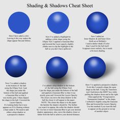 Just Creations Tutorials: Cheat Sheets - Shading/Shadows & Highlights: Created for Wilma4Ever.com