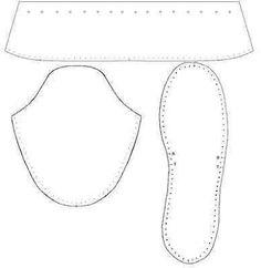 Hasil gambar untuk lasso slippers template