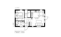 Backyard Guest Houses, Backyard Cabin, Apartment Floor Plans, Beach Cottage Style, Compact Living, 49er, Small House Design, Cabin Plans, Small House Plans