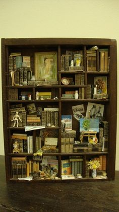 Miniature library miniature thematic   artist von bagusitaly