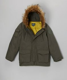 Take a look at this Hunter Green Parka - Boys by Woolrich on #zulily today!