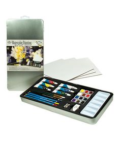 Another great find on #zulily! Artist Tin Watercolor Painting Set #zulilyfinds