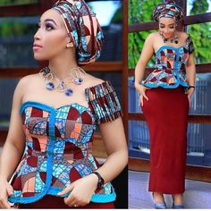 Beautiful Ankara Aso Ebi collection To Wow This Season. The African fashion style is unique and anyo. African Print Dresses, African Fashion Dresses, African Attire, African Wear, African Women, Ankara Fashion, African Style, African Prints, Ankara Gown Styles