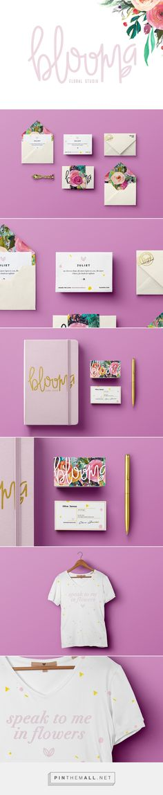 Blooma Floral Studio by Lizzy Cantu on Behance | Fivestar Branding – Design and Branding Agency & Inspiration Gallery