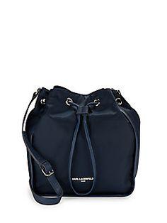 Karl Lagerfeld - Elise Drawstring Crossbody Bucket Bag