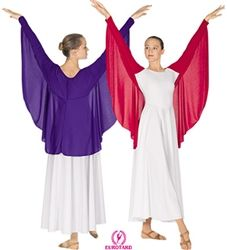 Impress the crowd with these eye-catching yet simple liturgical dance garments from Dancewear Corner. Worship Dance, Praise Dance, Girls Dancewear, Dance Tops, Christian Clothing, Costume Dress, Dance Outfits, Dance Costumes, Dance Wear