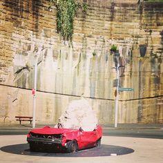 Car meets rock #Sydney