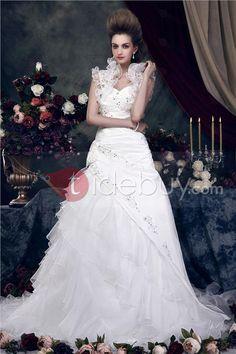 Maravilloso /Estilo Princesa Vestido de Novia de Boda con Cola Capilla y Silueta Línea-A Angerika's  (Envío Gratuito )