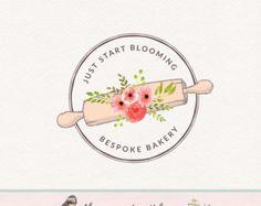 perno de balanceo logo panadería insignia por ThePaperGirlCo
