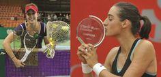 Frenchwomen Alizé Cornet (Katowice) and Caroline Garcia (in Bogota) won a tournament today. 4/13/14