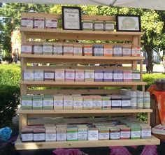 Our much anticipated new soap rack arrived last thursday, and we put it to use on saturday. It is a well designed rack that folds down, and each shelf comes apart. We filled it and calculated it …