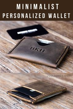 Xmas Gift Ideas for Him Minimalist Leather Wallet, Minimalist Wallet, Handmade Leather Wallet, Leather Gifts, Christmas Gifts For Boyfriend, Boyfriend Gifts, Custom Leather Wallets, Customized Gifts, Personalized Gifts