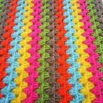 WIP granny stripe blanket by riavandermeulen