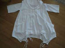GORGEOUS SORENTO SMOCK LAYERING TUNIC-L/XLONE SIZE-LAGENLOOK VERY QUIRKY (white)