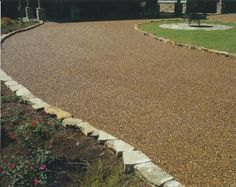 Driveway made form Gravel Lok.  Love this idea