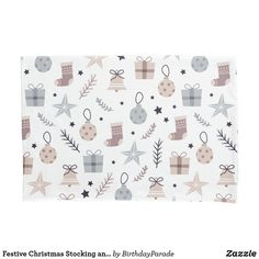 Festive Christmas Stocking and Baubles Design Pillow Case Christmas Gift Wrapping, Christmas Gifts, Christmas Decorations, Christmas Tree, Christmas Bedding, Counting Sheep, Designer Pillow, Winter Christmas, Happy Holidays