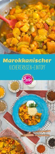 Für die Veganer unter uns gibt es diesen leckeren Kichererbsen-Eintopf auf Marokkanische Art.