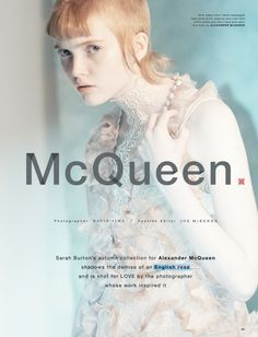 """Ruth Bell is """"McQueen"""" for Love Magazine Fall/Winter 2015 by David Sims [Editorial]"""