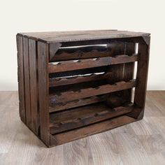 Vintage Apple Crates offers our customers rustic wine racks made from authentic apple crates. Our wooden wine crates make perfect gifts for wine-lovers. Vintage Wine Rack, Rustic Wine Racks, Apple Crate Shelves, Apple Crates, Wine Rack Furniture, Diy Furniture, Gifts For Wine Lovers, Wine Gifts, Wooden Wine Crates
