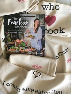"A gorgeously ""fearless"" Cotton Tea towel in calico color. Eating Well, Tea Towels, Good People, Authors, Lifestyle Blog, Have Fun, Goodies, Advertising, Good Things"