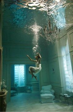 When I was little, I wanted to live a normal life, but underwater. Like as if the Earth was covered