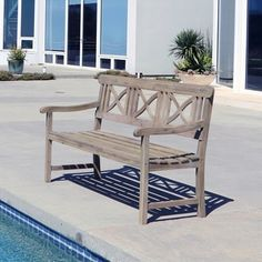 Renaissance Weather-Resistant Outdoor Hand-Scraped Hardwood Bench | Overstock.com Shopping - The Best Deals on Outdoor Benches