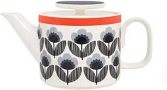 Orla Kiely Teapot Blue Poppy Meadow from Heal's