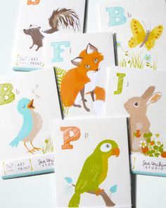 Alphabet Cards by Sea Urchin Studio