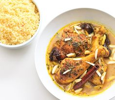 Moroccan Tagine with Saffron Couscous on http://www.wishfulchef.com