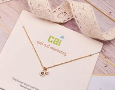 Bridesmaid Initial Necklace by Cool and Interesting Initial Necklace, Arrow Necklace, Gold Necklace, Bridal Collection, Initials, Bridal Shower, Bridesmaid, Cool Stuff, Gifts