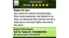 Saw Lavinia for eyebrow threading today. Was a lovely experience, she listened to...