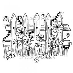 Image detail for -The Garden Fence Digital Stamp - CU & PU OK - £1.20 : Instant Card ...