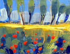 Provence Poppy Field Encaustic Wax by MoniqueKenSarkessian on Etsy, $175.00