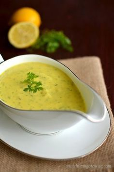 Sos cytrynowy do ryb Raw Food Recipes, Soup Recipes, Snack Recipes, Cooking Recipes, Healthy Recipes, Healthy Dishes, Tasty Dishes, Healthy Eating, Healthy Food