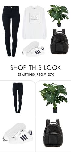 """YUNG LEAN"" by baludna ❤ liked on Polyvore featuring VFiles, STELLA McCARTNEY, adidas and Alexander Wang"