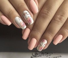 flower nail art, Manicure by summer dress, Manicure for young girls, Nails with…