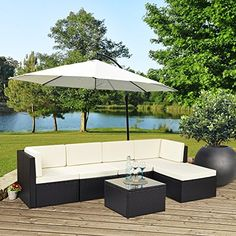 Rattan Modular Corner Sofa Set Garden Conservatory Furniture 5 To 9 Pcs INCLUDES GARDEN FURNITURE COVER  Price Β£999,99