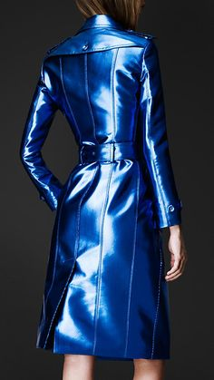 Bright Metallic Trench Coat | Burberry