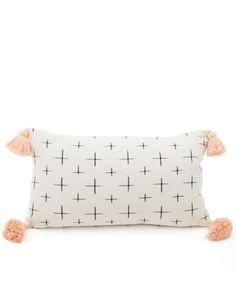 Fair Trade Handmade White Tassel Pillowcase