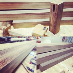 The start of a new project for  some special people. #Iroko #LeonOutdoorTable handmade by Timber - De Houtpraktijk