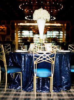 ideas para una decoración azul, dorado y blanco. #DecoraciónBoda #BodaAzul Índigo Bodas y Eventos