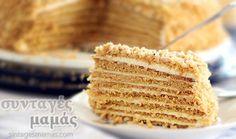Ρωσική τούρτα μελιού Krispie Treats, Rice Krispies, Cocoa, Vanilla, Butter, Sweets, Sugar, Baking, Cake