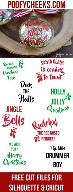 Christmas Carol Cut Files - Free SVG and DXF files to