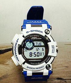 G Shock Watches, Casio G Shock, Men's Watches, Luxury Watches, Watches For Men, G Shock White, G Shock Frogman, Casio Vintage, Awesome Watches